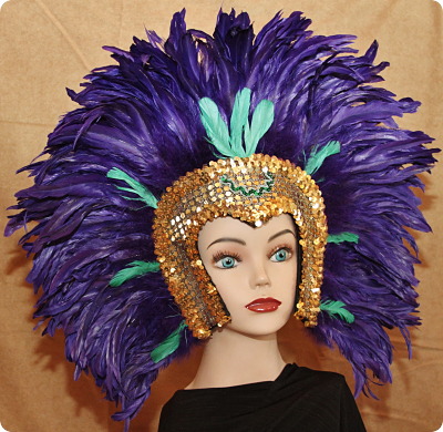 Hand Crafted Feather Mask HM111