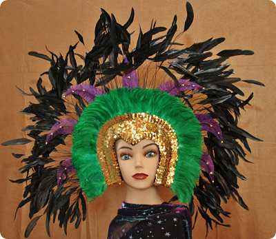 Hand Crafted Feather Mask HM113