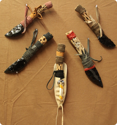 Native American Indian Knife with Pouch