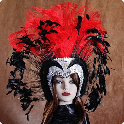 Hand Crafted Feather Mask MH004